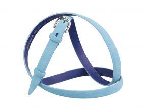 Кожаный ремень Z15-03 (голубой)