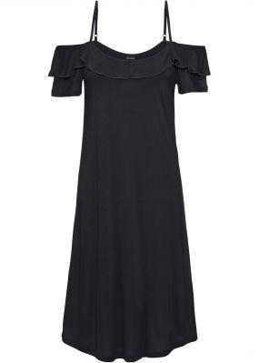 Платье трикотажное с воланами