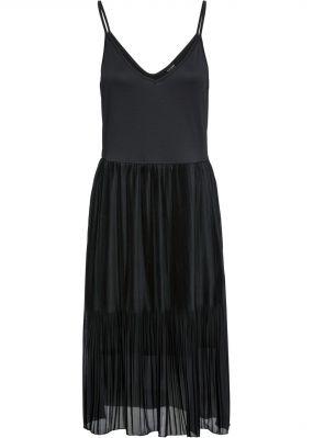 Миди-платье с плиссированной юбкой