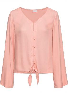Блузка с удлиненными нижними краями