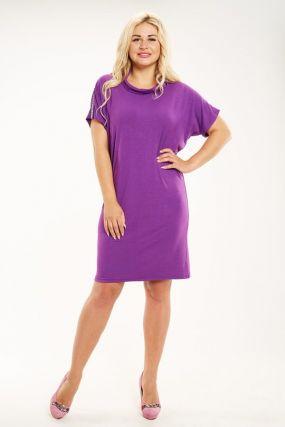 Платье вискозное Селена (фиолетовое)
