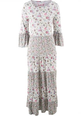 Платье макси трикотажное