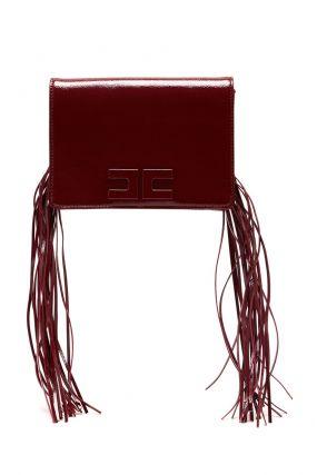 Бордовая сумка с кистями