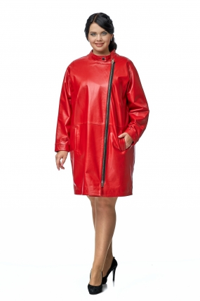 Женское кожаное пальто из натуральной кожи