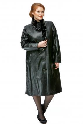 Женское кожаное пальто из натуральной кожи с воротником, отделка кролик рекс
