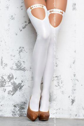 Глянцевые чулки госпожи (Me Seduce) – белый
