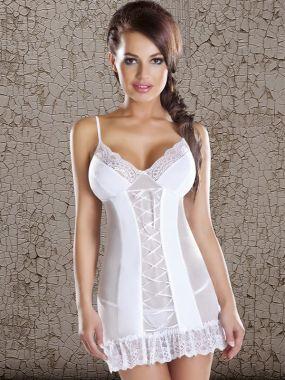 Соблазнительная белая сорочка и трусики Avanua Marylin – S/M