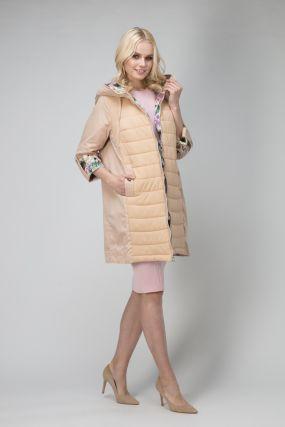 Весенняя удлиненная женская куртка