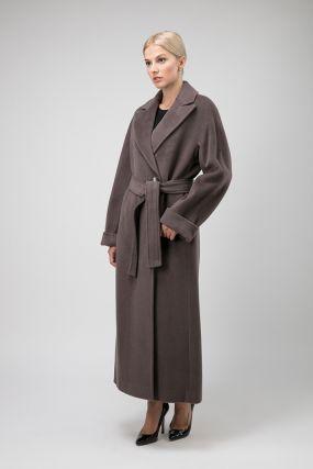 Длинное итальянское пальто из шерсти и кашемира