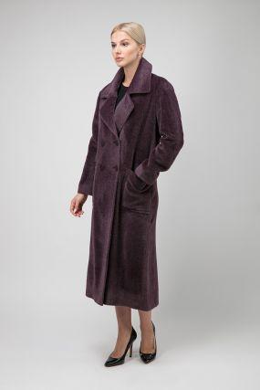 Итальянское двубортное пальто из альпака