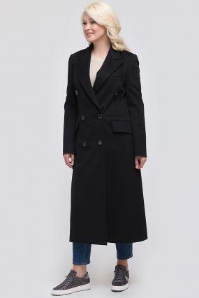 Женское итальянское двубортное пальто приталенного фасона