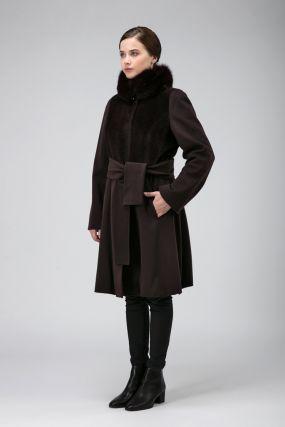 Комбинированное приталенное пальто из Италии