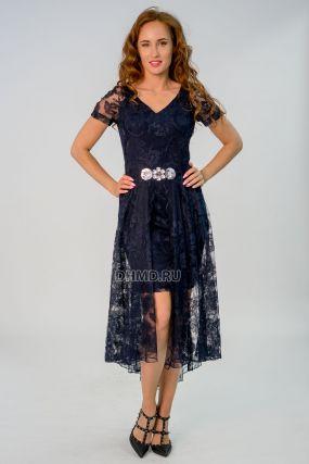 Платье POLA MONDI Эльмира цвет темно-синий