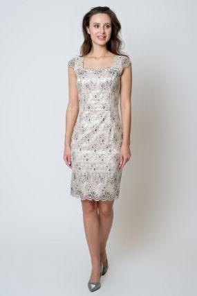 Платье POTIS&VERSO Нетико 358E  цвет бежевый