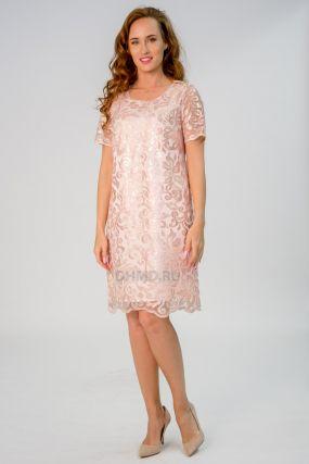 Платье POZA Меган цвет розовый