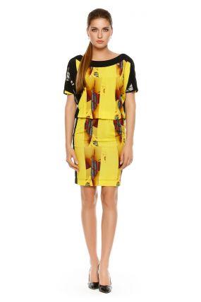 Платье POTIS&VERSO Нола 312C цвет желтый