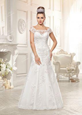 Свадебное платье-русалка с коротким рукавом PB022