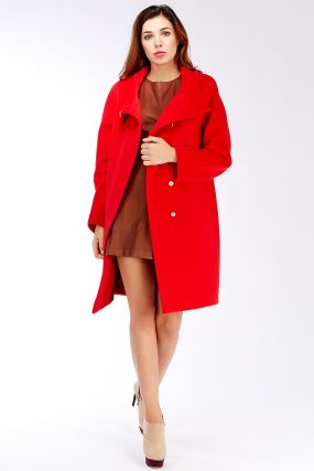 Пальто реглан средней длины из ангоры