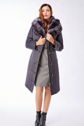 3081cd13ae26 Женские Пальто с мехом от 719 руб. Купить в Интернет-Магазине First-Fem