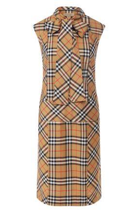 Хлопковое платье Burberry