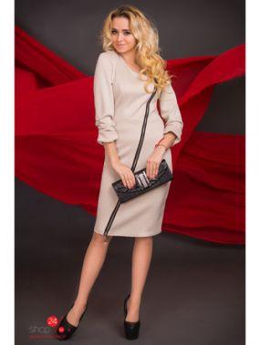 Платье AGIO-Z, цвет бежевый