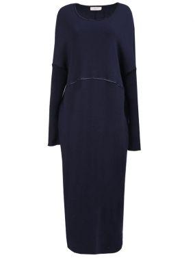Шерстяное платье-макси