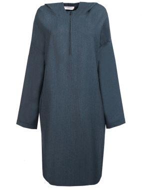 Шерстяное платье с капюшоном