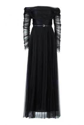 Вечернее платье из черного шифона