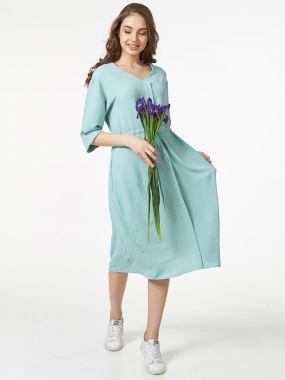 Платье мятного цвета из нежной вискозы