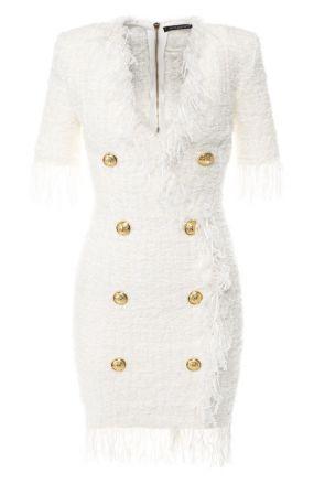 Буклированное платье Balmain