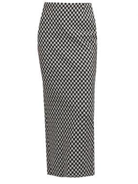 Длинная юбка-карандаш из шерсти