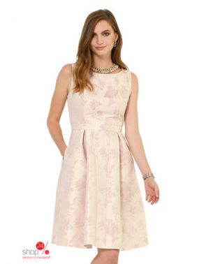 Жаккардовое платье Alba Moda Klingel, цвет телесный, рисунок