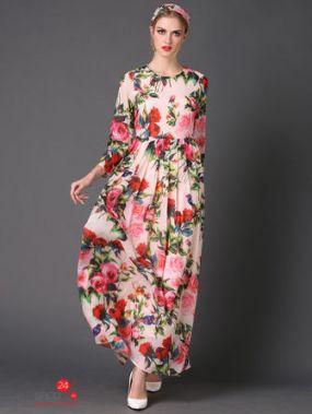 Платье Une fleur, цвет мультиколор
