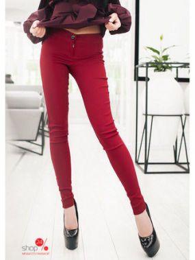 Джинсы Exclusive, цвет бордовый
