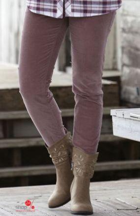 Узкие брюки из вельвета Cellbes, цвет серо-розовый