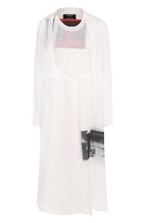 Платье-миди с запахом и принтом CALVIN KLEIN 205W39NYC