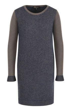Мини-платье из смеси кашемира и шелка Loro Piana