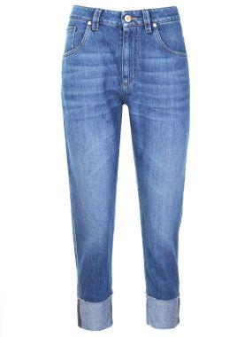 Укороченные джинсы-бойфренды