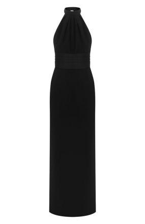 Шерстяное платье-макси Saint Laurent