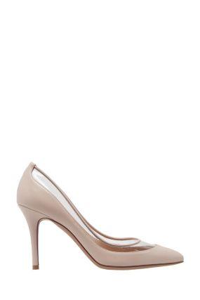 Туфли с прозрачной вставкой