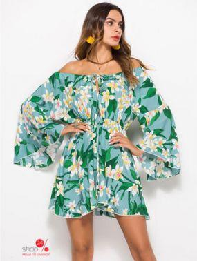 Платье Causey, цвет голубой, зеленый