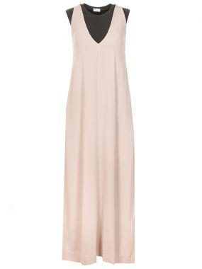 Платье-макси шелковое