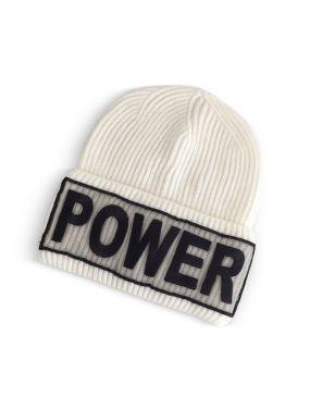 Power Manifesto - Белая Шерстяная Вязаная Шапка