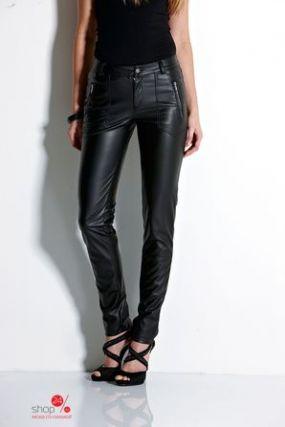 Узкие брюки из экокожи, длина 84 см Halens, цвет черный