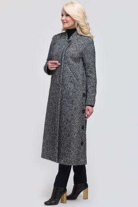 Женское пальто из твида А-силуэта