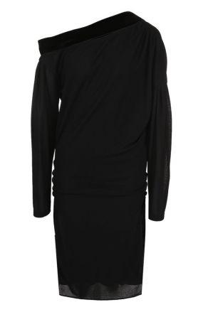Однотонное платье с открытым плечом Tom Ford