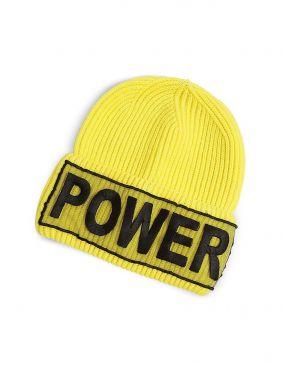 Power Manifesto - Ярко-желтая Вязаная Шапка