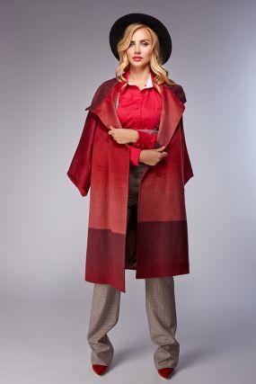 Стильное весеннее кашемировое пальто без меха