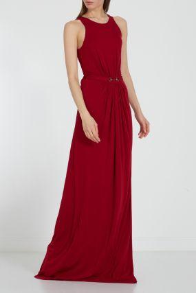 Красное платье-макси