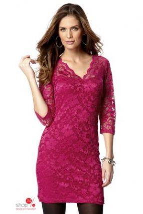 Кружевное платье Halens, цвет красный